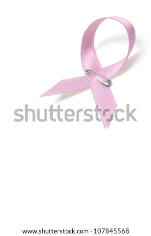 Pink breast cancer ribbon - stock photo