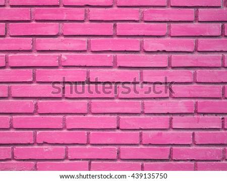 Pink brick wall texture background - stock photo