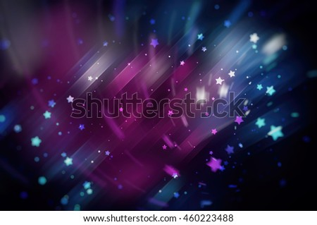 Pink bright abstract background with stars