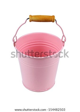 Pink bucket isolated on a white background