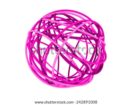 pink cable - stock photo