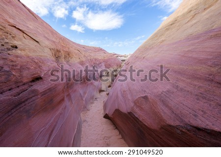Pink Canyon, Valley of Fire State Park, NV - stock photo