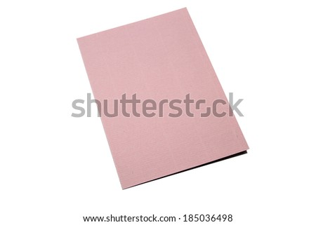 Pink card isolated on white background