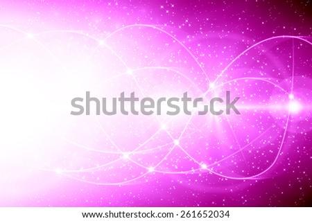 Pink Christmas background - stock photo