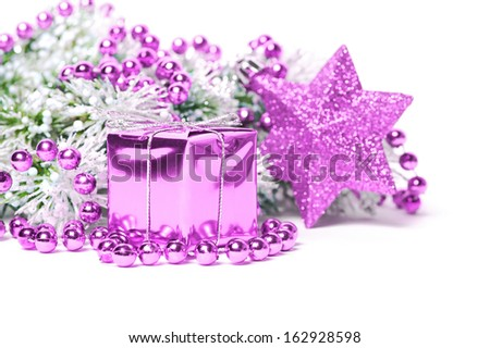Pink Christmas composition  - stock photo