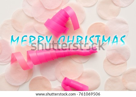 pink christmas wrapping paper and decorations for christmas background