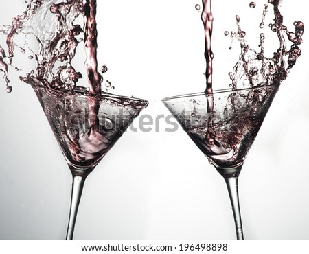 Pink Cocktails - stock photo