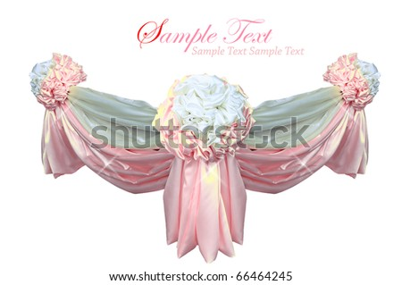 pink color fabric - stock photo