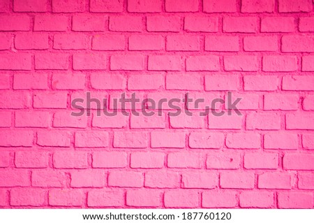 Pink color of brick wall - stock photo