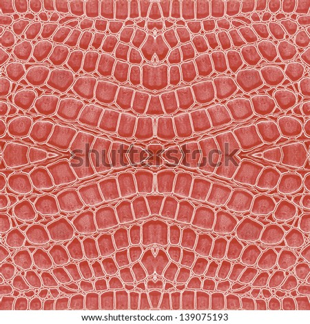 pink color of crocodile leather background