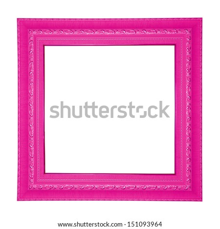 Pink colored square frame. - stock photo