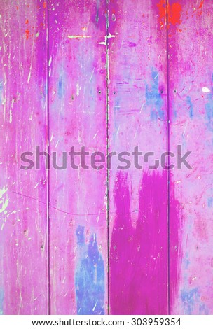 Pink colorful vintage background with shabby distressed grungy texturehippie style  - stock photo