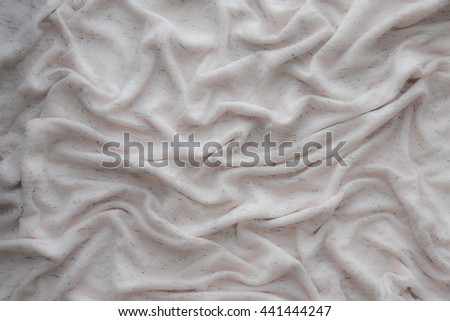pink cotton fabric texture. draped white clothe  texture