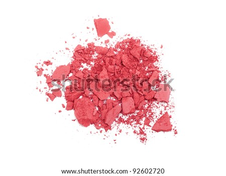 Pink crashed blush isolated on white - stock photo