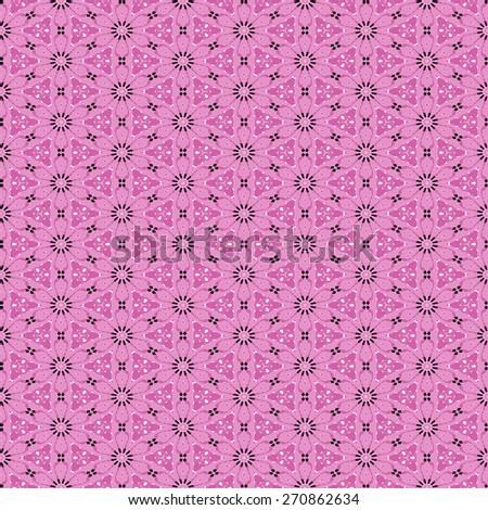 pink Decorative seamless pattern in ethnic geometric style - stock photo