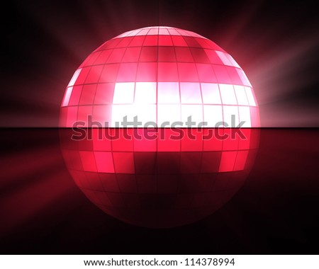 Pink disco ball background - stock photo