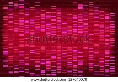 Pink DNA gel - stock photo