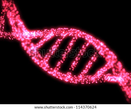 Pink DNA Helix Background - stock photo