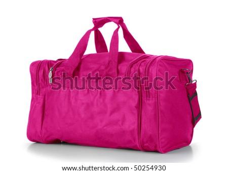 Pink Duffel Bag - stock photo