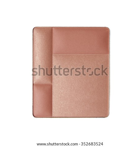 pink eyeshadow blush palette on white background
