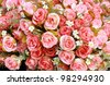 Pink Fabric Rose - stock photo