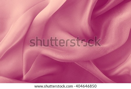 pink  fabric with  folds abstract  background - stock photo