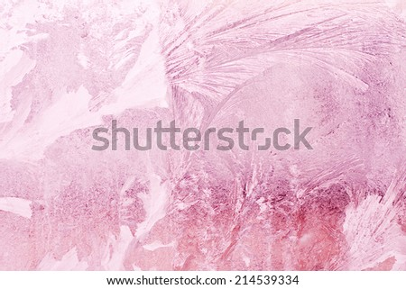 pink fantastic icy surface - stock photo