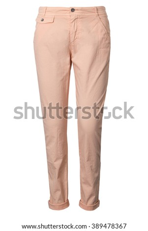 Pink female chinos