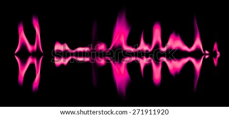 Pink fire flames abstract background - stock photo