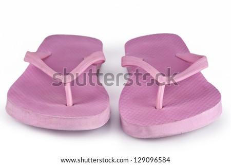 Pink Flip Flops - stock photo