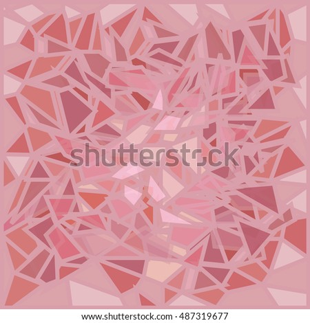 pink glass broken
