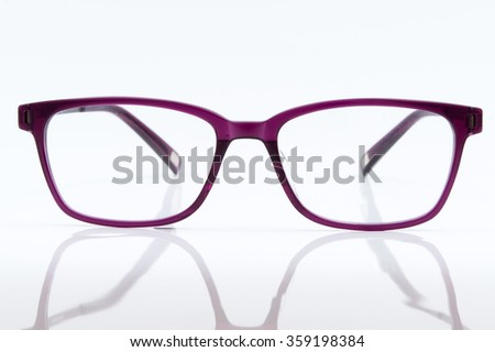 pink glasses isolated on white background