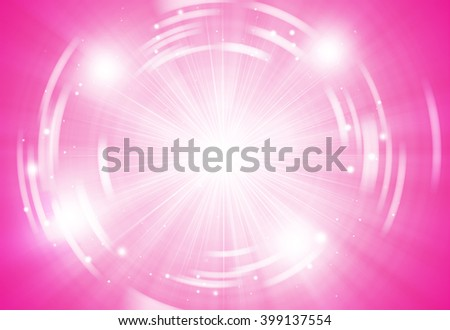 Pink glitter sparkles circles rays with bokeh fractal radial abstract background/texture. - stock photo