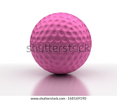Pink Golf ball - stock photo