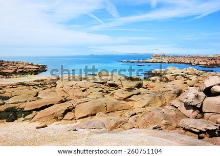 Pink Granite Coast (Brittany, France).  - stock photo