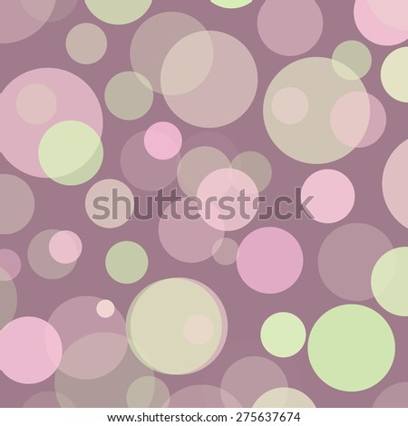 Pink Green Brown Mauve Polka Dots Background Texture - stock photo