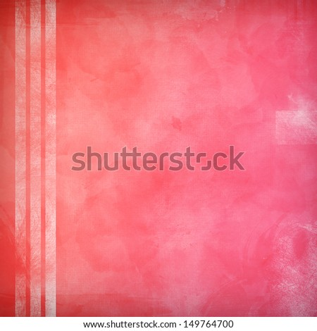Pink grunge texture with white stripes - stock photo
