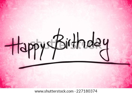 pink happy birthday background - stock photo