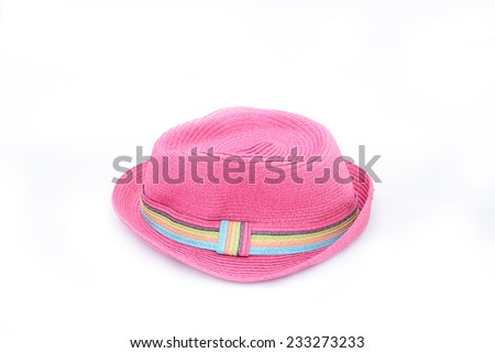 Pink hat on isolated white background for graphic designer