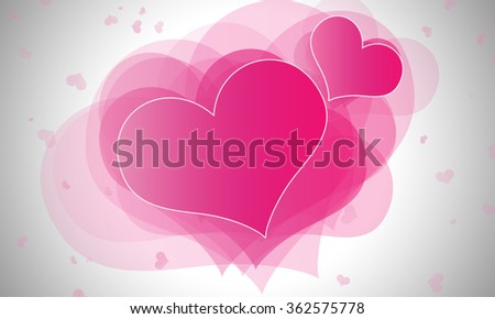 Pink heart on abstract background