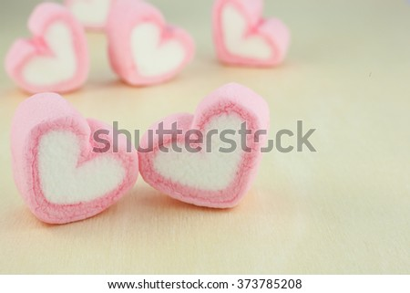 Pink heart on  wood background for valentines Day