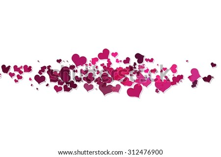 Pink hearts with white background. pink hearts on a white background. Raster version