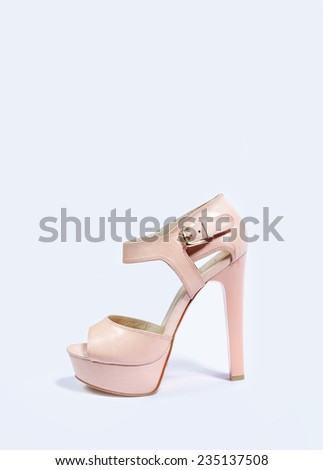 pink high-heeled shoes  - stock photo