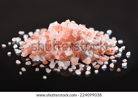 Pink Himalayan Salt - stock photo