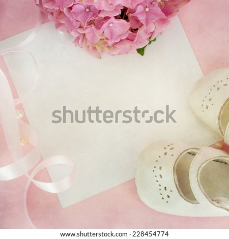 Pink hydrangea flowers  - stock photo