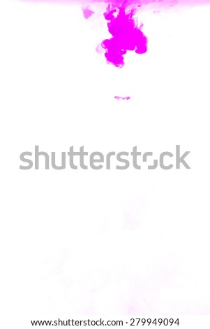 Pink ink in water background - stock photo