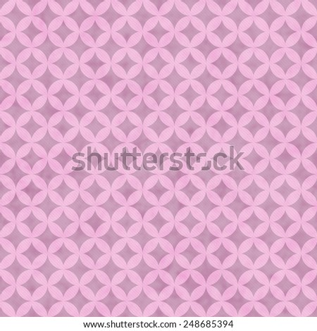 Pink Interconnected Circles Tiles Pattern Repeat Background that is seamless and repeats - stock photo