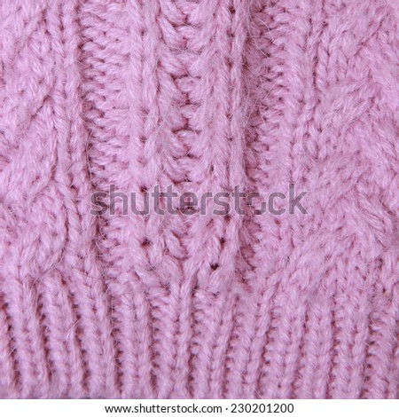 Pink knitted background - stock photo