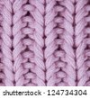 Pink knitted texture - stock photo
