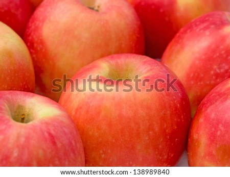 Pink lady apples - stock photo